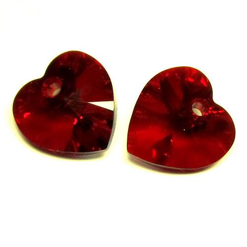 Swarovski srdce 10,5 mm - red