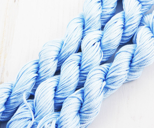 28m 90 stop 30yrd Sky Blue Nylon Kabel Twisted Ple
