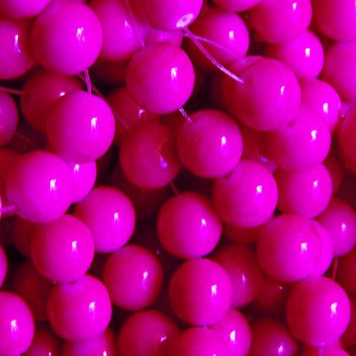 skleněné korálky LESK/ růžová tm/ 4mm/30ks