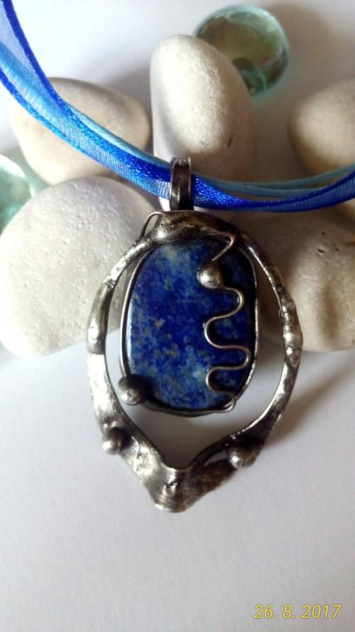 Pocínovaný Lapis Lazuli 4x3 cm