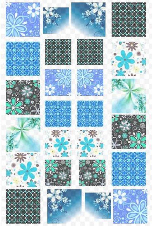 modročerné čtverečky