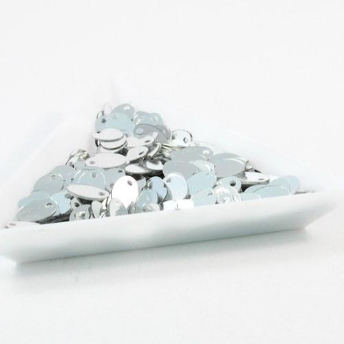 """Flitry \""""oválky\"""" 8 mm stříbrné 5 g"""