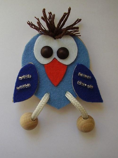 ŠIKULKA - Ptáček Rošťáček modrý