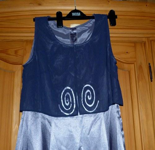 Společenské šaty - ruční malba