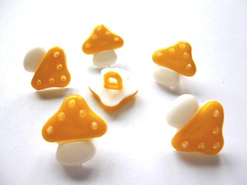 Knoflíčky houbičky světleoranžové 5ks