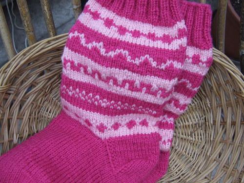 Růžové ponožky č.39-40