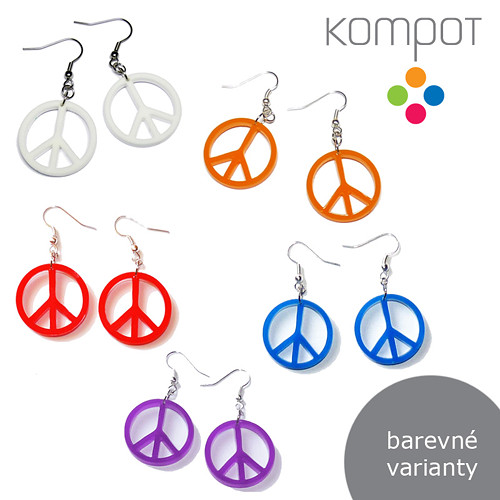 PEACE :: více barev (chirurgická ocel)