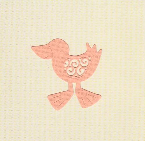 Kuřátko - světle oranžové (2 ks)