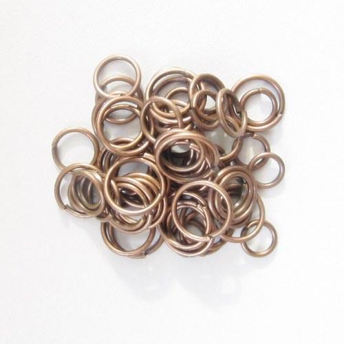 Spojovací kroužky měděné - mix - 150-200 ks