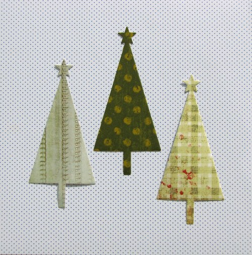 Vánoční stromeček plošný - 3 ks