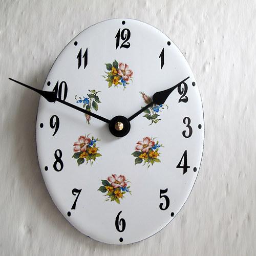 Smaltované hodiny 294
