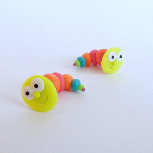 Neonový barevný červík PRO ALERGIKY