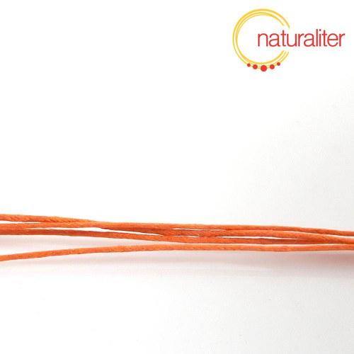 Voskovaná šňůra oranžová 1 mm, 5 m