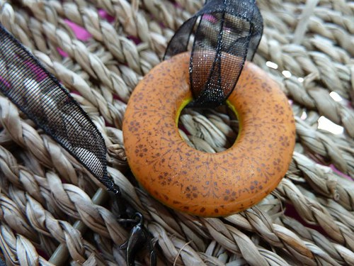 Oranžový donut