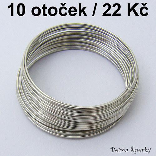 Náramkový paměťový drát, 10 otoček