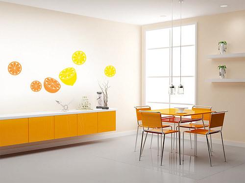 Citrusy - samolepka na zeď