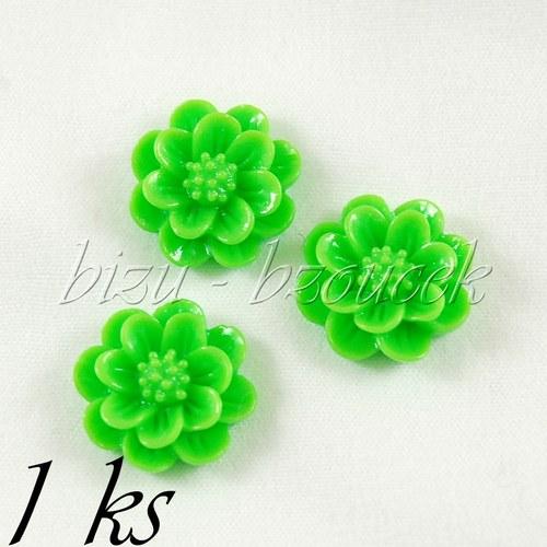 Zelený kabošon kateřinka 15mm
