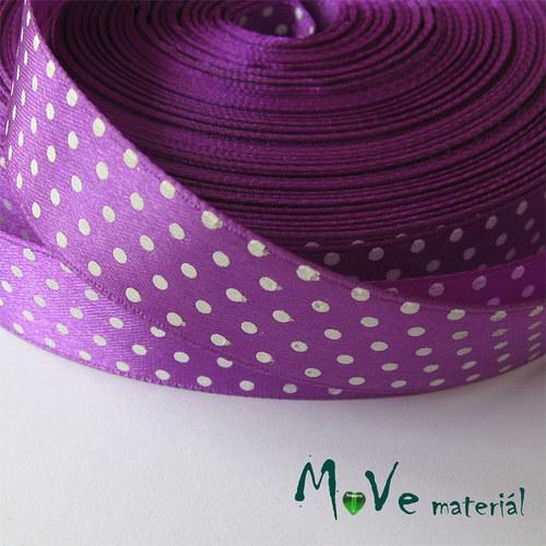 Stuha saténová - puntíky 20mm, 1m, fialová