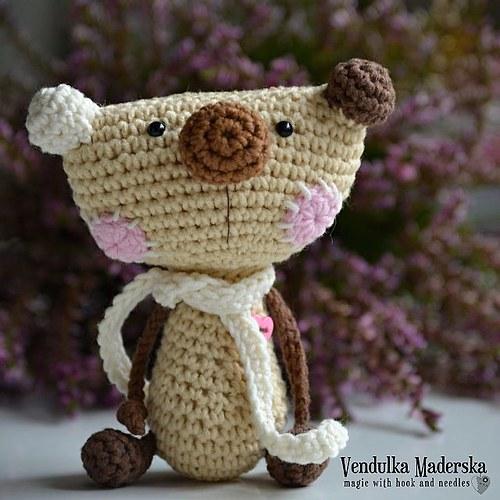 Medvídek - návod na háčkování