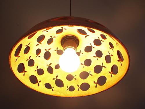 lustr keramický - RYBY - červený