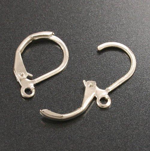 Háčky na náušnice kulaté, stříbrné 2 ks