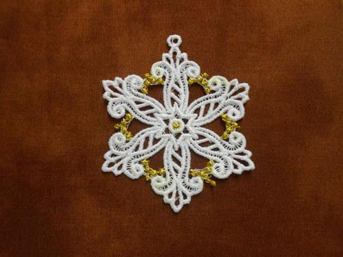 Vánoční ozdoba - sněhová vločka bílá AP1684008