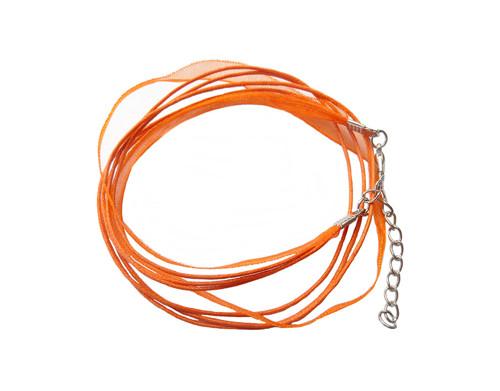 120114 Náhrdelníková šňůrka - oranžová
