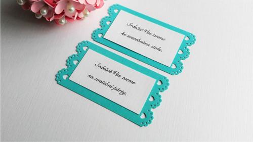 Pozvánka ke svatebnímu stolu Hearts&Dots