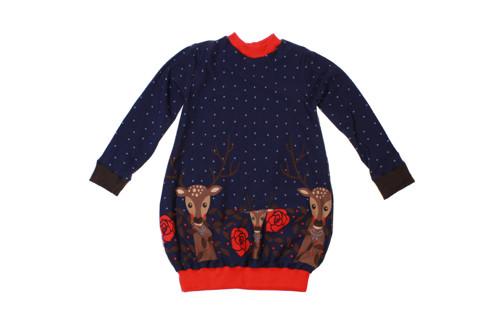 Dětské šaty Srnečky na modré vel. 104