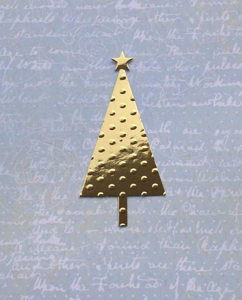 Vánoční stromeček embosovaný
