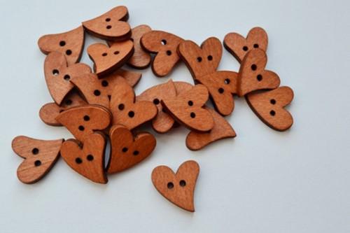 Knoflík dřevěný (10 ks)