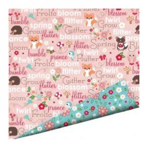 Oboustraný papír Zvířátka růžový