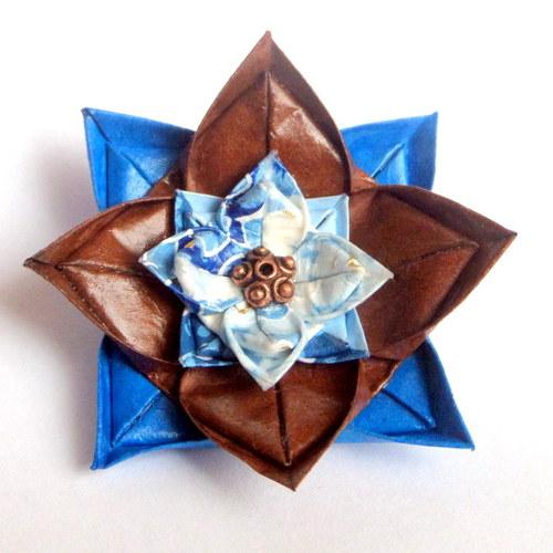 Podzimní  - origami brož