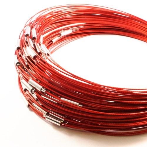 Obruč z lanka 45,5 cm červená 2 ks