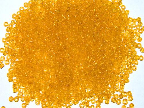 korálky rokajl žluté - 3mm