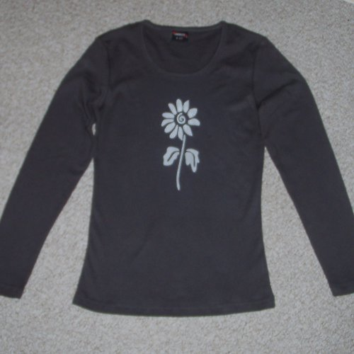 Antracitové triko se slunečnicí - SLEVA z 270,- Kč