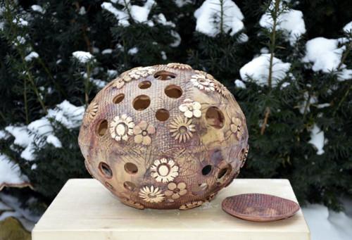 Efektní koule na svíčku 25cm (H)