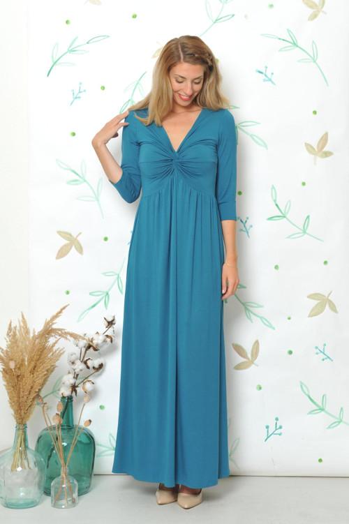 Anett Femme Emerald - šaty vhodné i těhotné