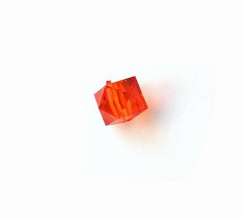 Korálky - krychličky, 10 x 8 mm - 2 kusy