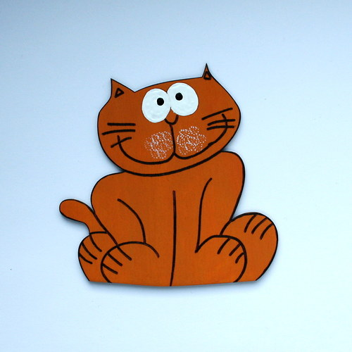 Dekorace na zeď - kočka