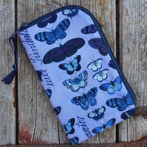 obal na mobil se zipem sbírka motýlů
