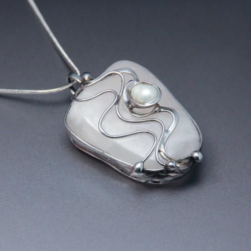 Z pokladnice (Růženín + Perla) - náhrdelník