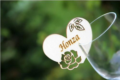 """Dřevěná jmenovka růže \""""Honza\"""""""