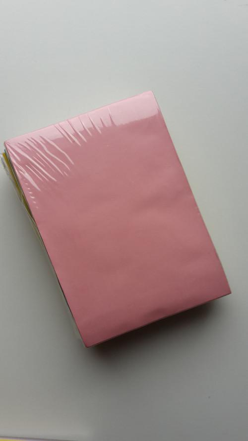 Přání a obálky 10,5 x 14,8 cm - 50 ks - 10 barev