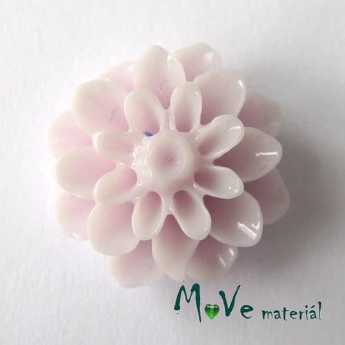 Kabošon květ lesklý resin/6ks/lila./II. jakost