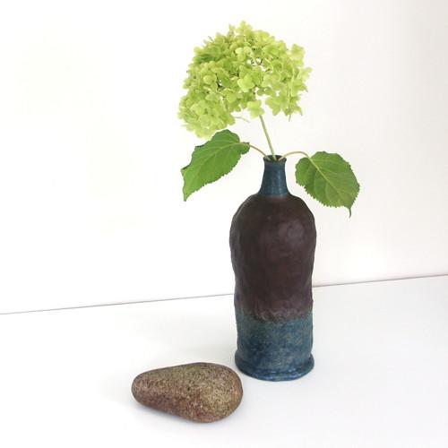 Modrohnědá - keramická váza