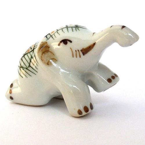 Slon porcelánový ručně malovaný