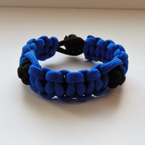 Zapletené kuličky - modrá