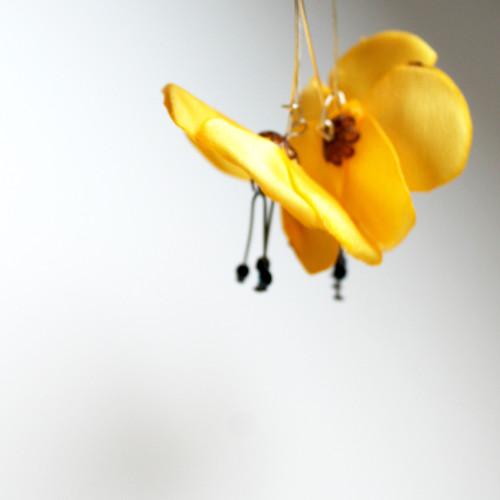 Náušnice: Žluté květy