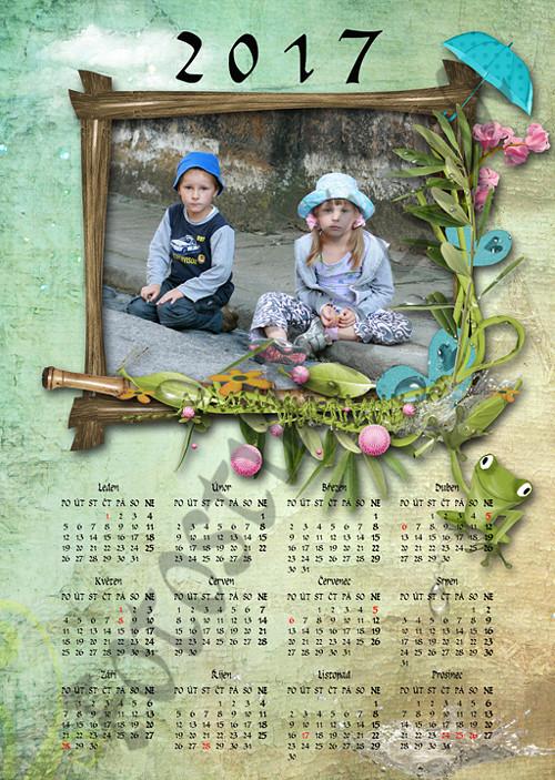 Roční scrapbookový kalendář z vaší fotografie 109